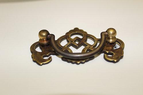 Brass Georgian Pierced Cabinet Pull - D8