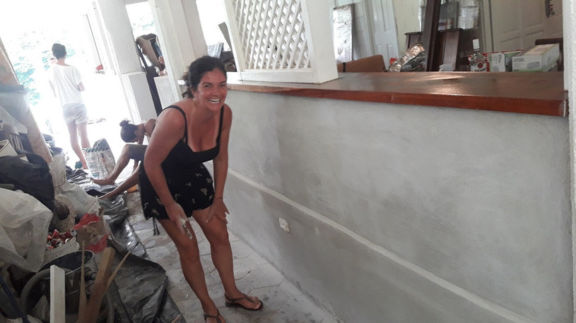 Petra a member of the painting team