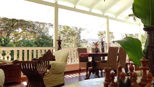 Veranda terrace common area