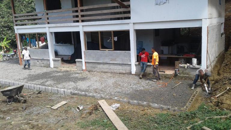 Works on the new verandah