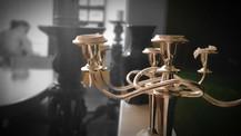 Sheffield silver plate candelabra
