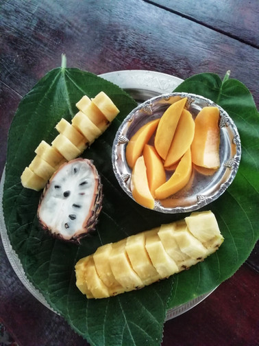 Plate of Tropical fruit
