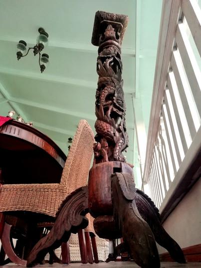 Indonesian harwood carved pedestal