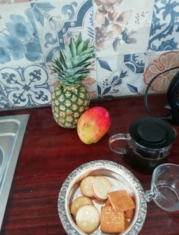 Tropical fruits in the Belvedere house kitchen