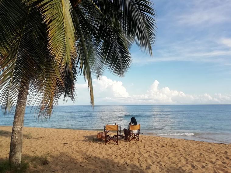 Breakfast at sunrise in Punta Uva