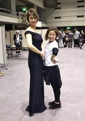 2019.5世界大会個人戦モデルさんと.JPG