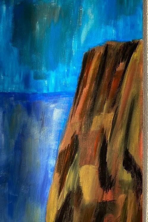 Klippe am Meer (Gion Battesta Huonder)