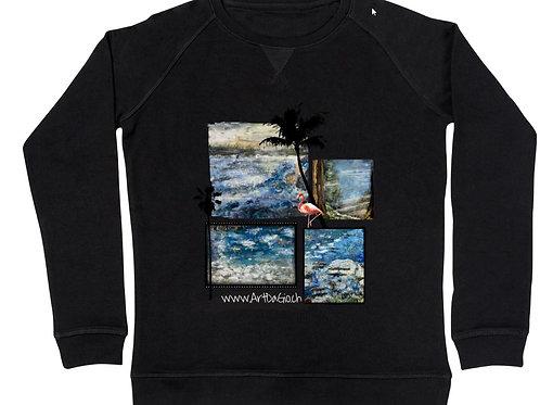 Frauen Sweatshirt mit Foto Schwarz M