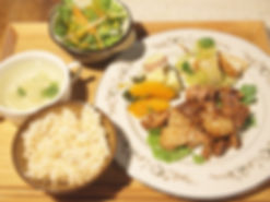 愛農ポークと有機野菜のランチ