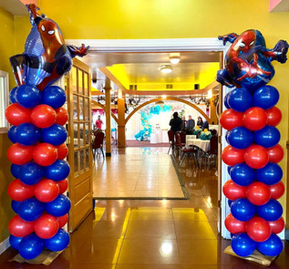 Spiderman balloon columns.jpeg