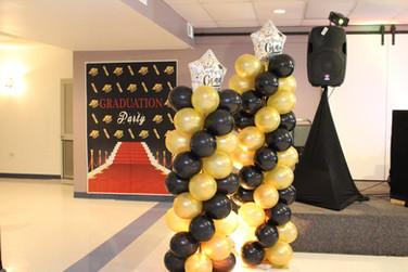 Black and Gold Balloon Column  #bridalbouquet #bridesmaidbouquet #Babyshower #balloondecorator #balloons #weddingbackdrop #weddingdecorator #eventdecorator #weddingplanner #partyplanner #weddingdj #lighting #eventplanner #uniquedecoration #trendydecoration #balloonarch