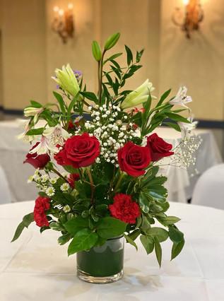Low Vase- Fresh Floral Arrangement
