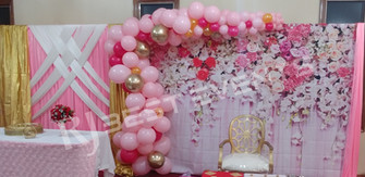 Cascading balloon arch backdrop and dessert table backdrop  #bridalbouquet #bridesmaidbouquet #Babyshower #balloondecorator #balloons #weddingbackdrop #weddingdecorator #eventdecorator #weddingplanner #partyplanner #weddingdj #lighting #eventplanner #uniquedecoration #trendydecoration #balloonarch