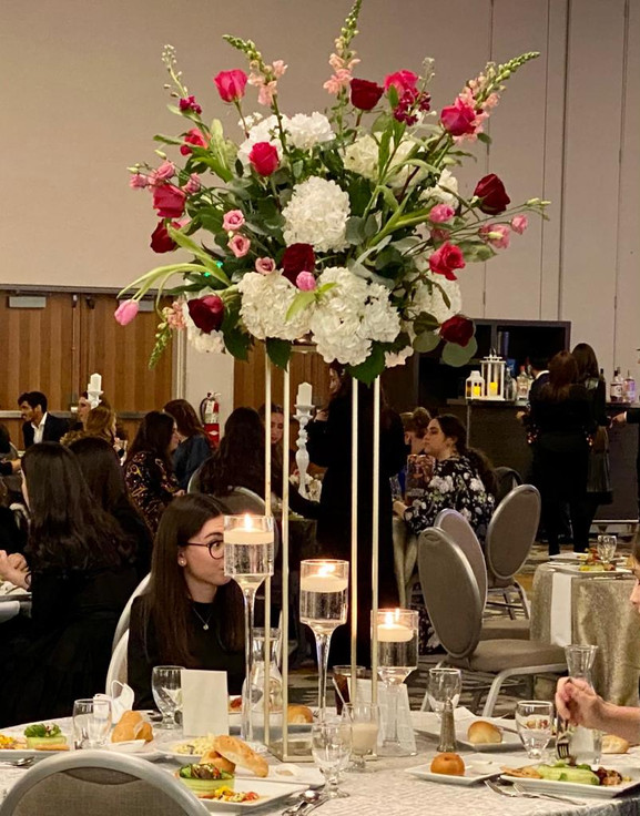 Fresh Floral Arrangement and Table Setup