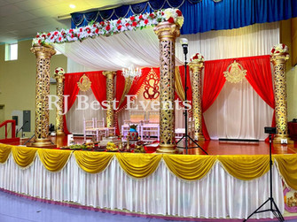 Golden Carved Wedding Mandap