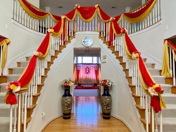 Stairway draping