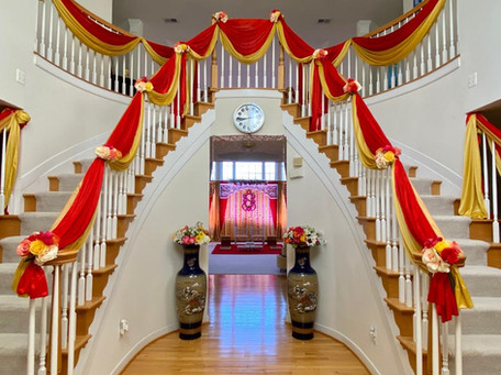 Stair-rail draping