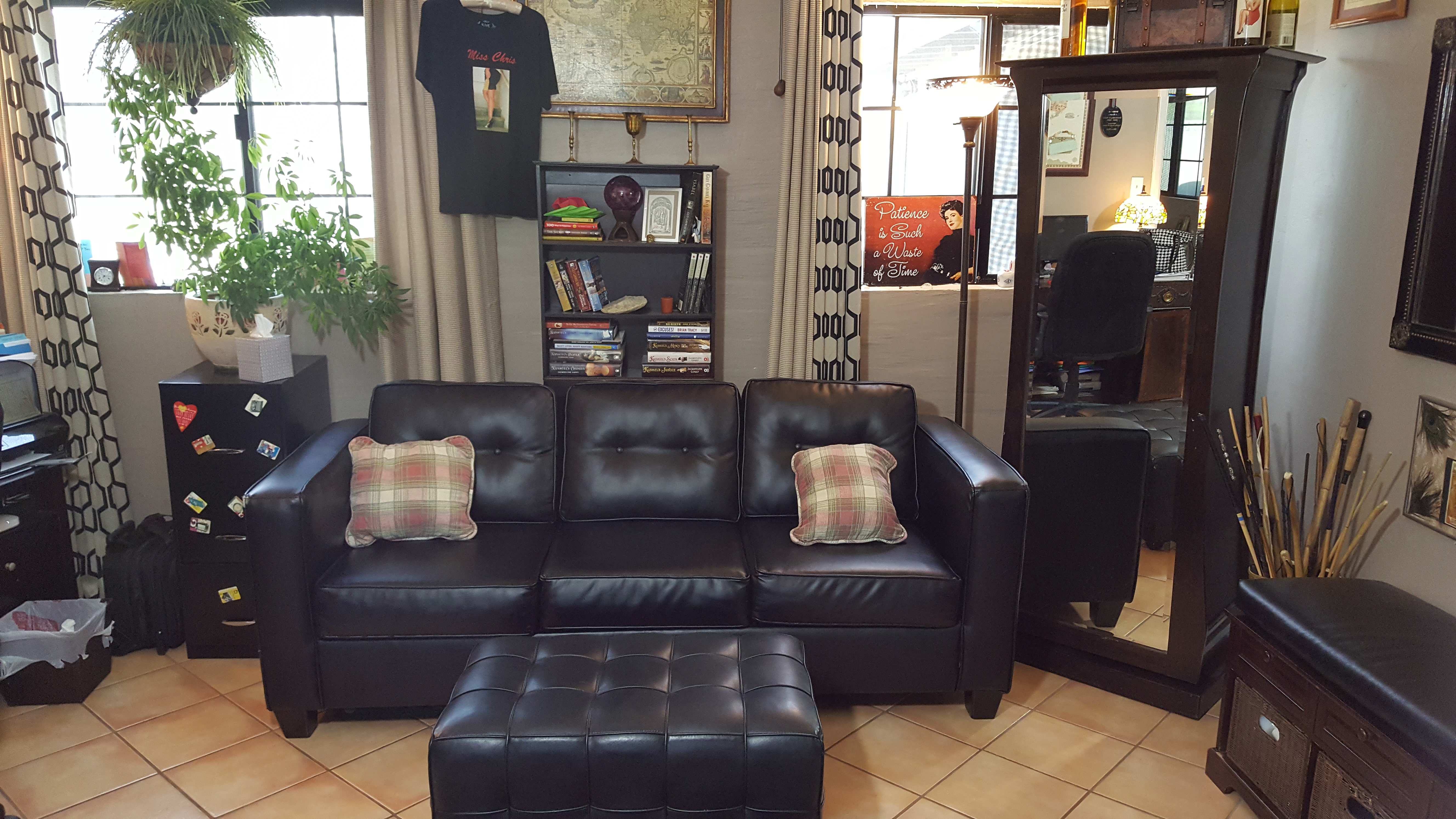 Office Couch & Ottoman