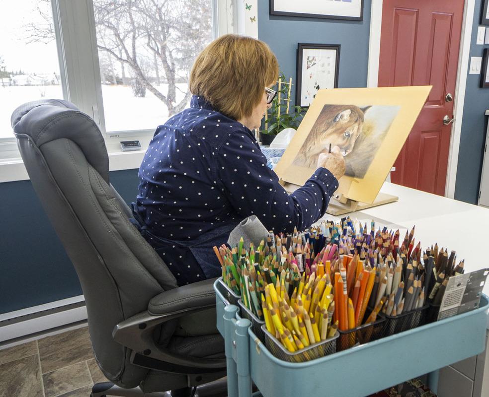 Terry in her Studio