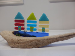 Beach Huts on Driftwood