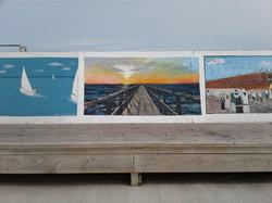 Painting on Gimli Sea Wall