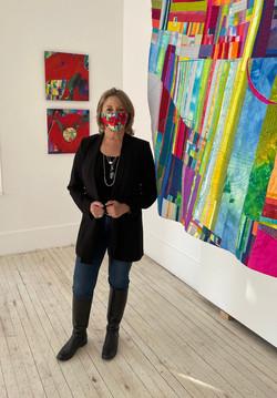 Composition, Textile Works Show at La Maison des Artistes