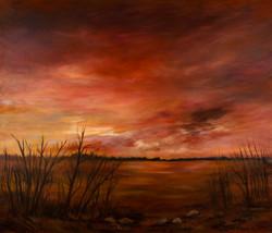 Western Sky, 36x44, Oil on Canvas