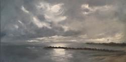 Landmark of the Interlake, 18 x 36, Oil on Canvas - Commission