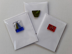 Cards with Fused Glass Piece