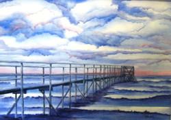 Pier View, Watercolour
