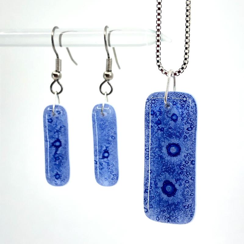 Sapphire Earrings and Pendant Set