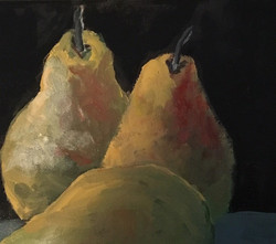 Three Pears, 12 x 12, Acrylic on Canvas