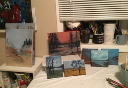 Getting Back in the Groove, Smaller Paintings and some Minis