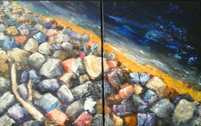 Artist Gayle Halliwell, Stone Beach