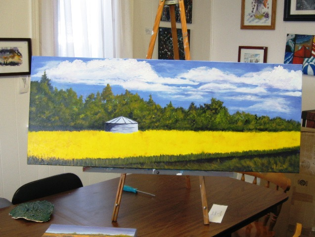 August on Highway 8, In Progress
