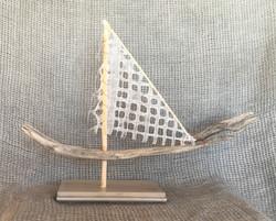 Wood and Fabric Sailboat