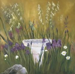 Dragon's Visit, 30 x 30, Oil on Canvas - Commission