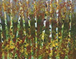 Poplar Trees, Acrylic