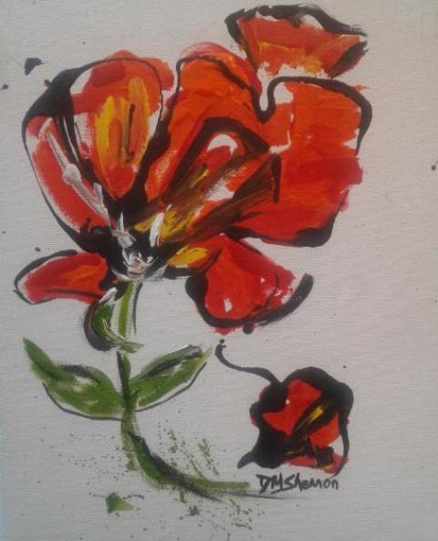 Artist Deborah Shannon, Dancing Poppies