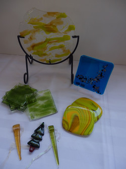 Collection of Fused Glass Pieces