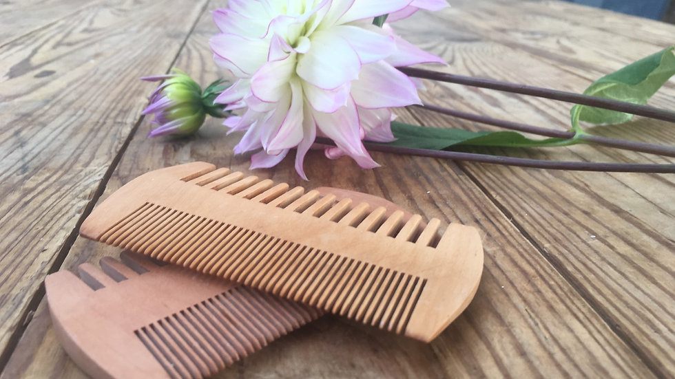 Natural wooden comb