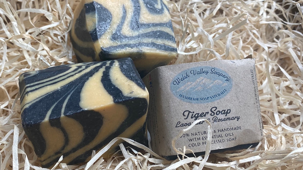 Tiger hand soap cube - Lavender & Rosemary