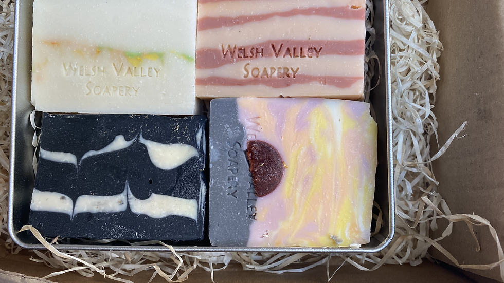 4 x soaps in Christmas selection box