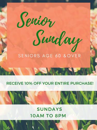 Senior Sundays!