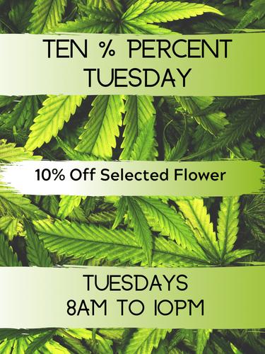 Ten % Tuesdays