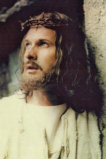 Claude as Jesus Christ on set