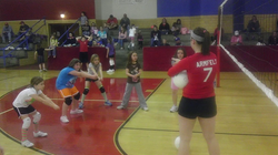 Youth Volleyball practice