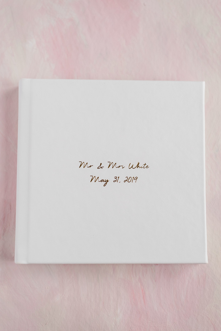 8x8 Album - Polar leather with gold debossing