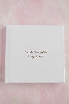 8x8 Album - Polar leather with gold debossing