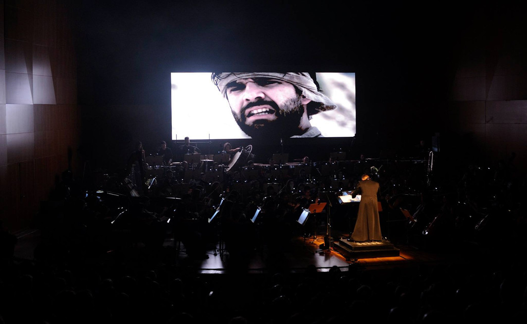 Premiere of my composition at Auditorio Victor Villegas in Murcia, performed by the Film Symphony Orchestra